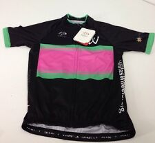 "NWT Primal Cycling Apparel ""Willa's Wheels 2015"" Mens Race Cut Raglan Jersey MED"