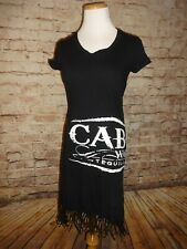 Women's Black Cabo Wabo Tequila Beach Cover Up Dress SZ Small Sammy Hagar S