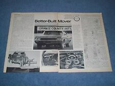 """1968 Buick GS400 Stage I Vintage Road Test info Article """"Better-Built Mover"""""""