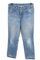 Vintage Levis High Waist Unisex Denim Jeans Stone Washed W34 L34 Blue - J4540