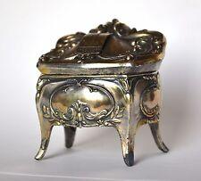 Vtg 30 Rockefeller Center jewelry casket souvenir trinket box art nouveau lined