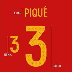Pique 3. Spain Home football shirt 2016 - 2017 FLEX NAMESET NAME SET PRINT