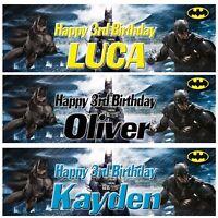 2 x personalized birthday banner batman superheroes children kids party poster