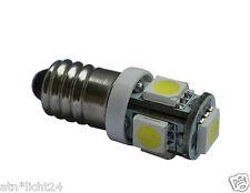 12v Volt DC e10 LED Lampada Xenon Bianco 6000k 5x 5050 SMD schraubsockel filettatura