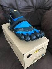 Vibram Mens FiveFingers V-Aqua Swim Run Shoes Black Blue Running EU45 UK 10/10.5
