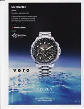magazine ad CITIZEN watch advert print PROMASTER Eco Drive Satellite Wave GPS