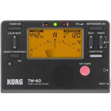 Korg Tm-60 Black Combo Tuner Metronome, New!