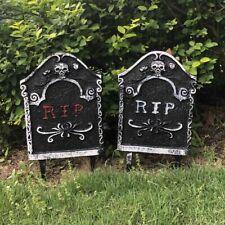 65 cm Halloween Crack Tombstone Cemetery Party Exterior Decoration Modern