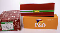 LGB Lehmann Gross Bahn P & O Shipping Containers Set Yellow Red MINT