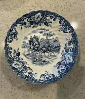 """Johnson Brothers COACHING SCENES-BLUE Berry Bowl, 5 1/8"""""""