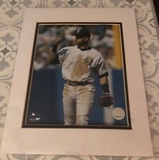 Photo File Official NY Yankees Derek Jeter 8x10 Photo Fist Pump Matted New