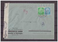 Deutsches Reich, Zensurbrief MiNr. 515 + 521 Schmölln nach Rotterdam 07.04.1941