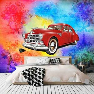 Red Martin Color 3D Full Wall Mural Photo Wallpaper Printing Home Kids Decor