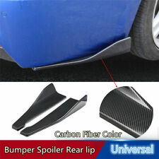1 Pair Carbon Fiber Car Body Side Skirt Diffuser Winglet Bumper Spoiler Rear Lip