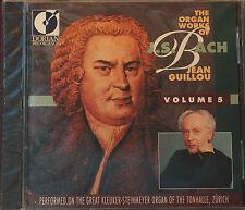 Rare Bach Organ Works Vol 5 Jean Guillou Dorian 90152 22 Tracks CD Sealed USA