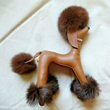 Vintage Dream Pets POODLE Leather with Fur