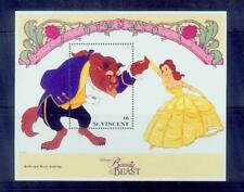 st.vicent/disney story-beauty and the beast 3 /mnh.good condition