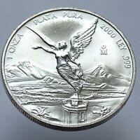 2000 Mexico 1oz Silver Libertad Low Mintage