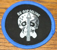 BE-BOP DELUXE AXE ORIGINAL VINTAGE EMBROIDERED WOVEN COLTH SEWING SEW ON PATCH