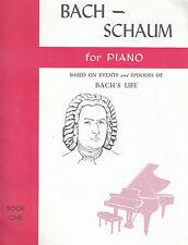 BACH-SCHAUM FOR PIANO SHEET MUSIC BOOK ONE