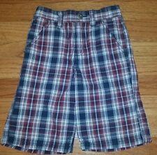 Gymboree Blue & Burgundy Plaid  Shorts  EUC Boys Size 5