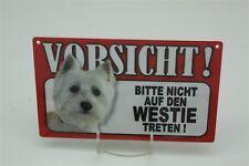 WESTIE - Tierwarnschild - VORSICHT Warnschild 20x12 cm 42 WEST HIGHLAND TERRIER