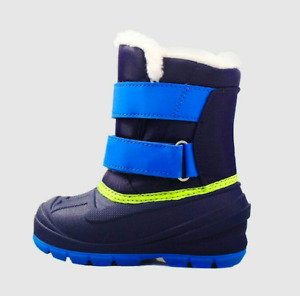 New Cat & Jack Lev Blue Winter Boots Toddler Boys Size 5 9 10