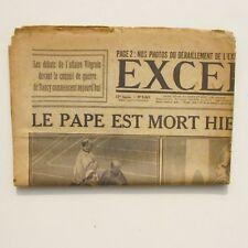 Excelsior n°4060 du lundi 23 janvier 1922 - Le Pape est mort -