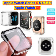 Para iWatch Apple Watch SE 6 5 4 3 2 1 TPU Funda Carcasa Protector de pantalla