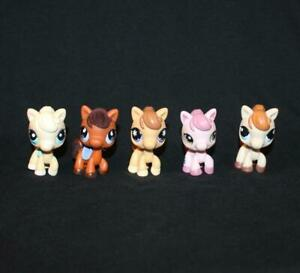 Lot of 5 Littlest Pet Shop HORSES #403 #627 #684 #1331 #1499 pony ponies