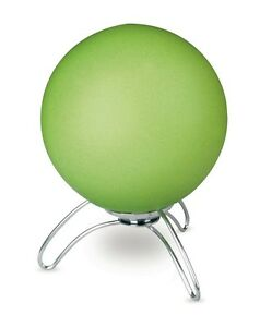 Bedside Lamp Lumetto Modern Design Chrome With Glass Green Sphere