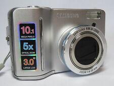 "Samsung S1050 AA Battery 10.1MP 5x Zoom 3"" Screen All Metal Case Digital Camera"