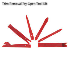 Car Interior Trim Door Panel Dash Centre Console Pry Open Tools 6Pcs Red Nylon