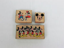 3 Mickey Mouse Rubber Stamps