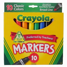 Crayola Classic Colors Broad Line Markers - 10 Count - Assorted Color
