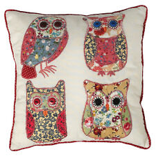 Dotcomgiftshop Patchwork Owls Mini Cushion