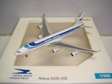 """Herpa Wings 500 Aerolineas Argentinas A340-200 """"1990s color - 50 anos"""" 1:500 NG"""