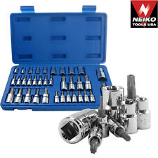 35pc Torq Bit and E-Socket Bit Set Automotive Shop Garage Star Must Have Tool