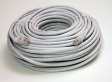 100 ft Feet Cat5e Ethernet Network Cable Gold Plated RJ45 Jack Copper Wire White