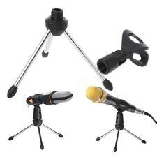 Mic Microphone Clip Holder Stand Tripod A-1 Folding Adjustable Desktop Handheld