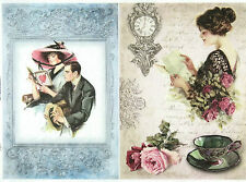 Rice Paper for Decoupage Scrapbooking Sheet Vintage Love