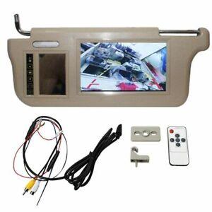 Car Sun Visor With Mirror Screen LCD Camera Monitor Auto Interior Accessory 12V