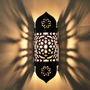 Large Oriental Wall Lamp Moroccan Lamp Wall Light Tajia H 45cm