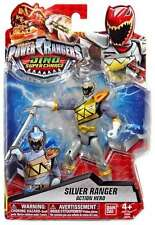 Power Rangers Dino super charge Silver ranger figure NEW sealed blister