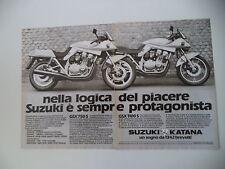 advertising Pubblicità 1982 MOTO SUZUKI GSX 750 S/1100 S