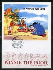 Micronesia Disney Winnie The Pooh 1998 Souvenir Sheet Ii First Day Cover