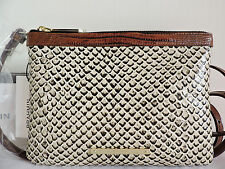 Brahmin Perri Onyx Java Leather Cross-body Bag Built-In Card Case Wallet NWT