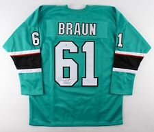Justin Braun Signed Sharks Jersey (Beckett Coa) Playing career 2009–present