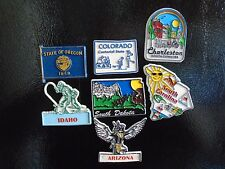Lot Of Vintage 70's Rubber State Fridge Magnets #2