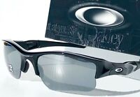 NEW* Oakley FLAK JACKET Black w Black Iridium XLJ Sunglass oo9009 03-915